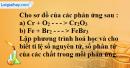 Bài 16.2 trang 22 SBT hóa học 8