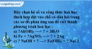 Bài 16.7 trang 22 SBT hóa học 8