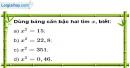 Bài 47 trang 13 SBT toán 9 tập 1