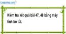 Bài 49 trang 13 SBT toán 9 tập 1