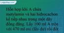 Bài 9.12 trang 19 SBT Hóa học 12