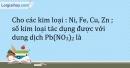 Bài 19.2 Trang 23 SBT Hóa học 9