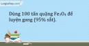 Bài 20.5 Trang 25 SBT Hóa học 9