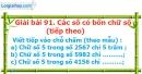 Bài 91 : Các số có bốn chữ số (tiếp theo)