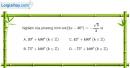 Bài 1.19 trang 24 SBT đại số và giải tích 11