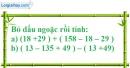 Bài 92 trang 80 SBT toán 6 tập 1