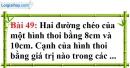 Bài 49 trang 130 Vở bài tập toán 8 tập 1
