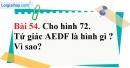 Bài 54 trang 133 Vở bài tập toán 8 tập 1