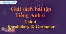Vocabulary and Grammar - trang 26 Unit 4 SBT tiếng Anh lớp 6 mới