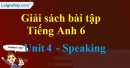 Speaking - trang 29 Unit 4 SBT tiếng Anh lớp 6 mới