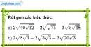 Bài 60 trang 15 SBT toán 9 tập 1