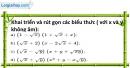 Bài 61 trang 15 SBT toán 9 tập 1