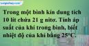 Bài 7.6 trang 11 SBT hóa học 11