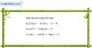 Bài 1.27 trang 37 SBT đại số và giải tích 11