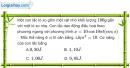 Bài 2.7, 2.8, 2.9 trang 7 SBT Vật Lí 12