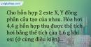 Bài 4.9 trang 10 SBT Hóa học 12