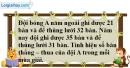 Bài 105 trang 83 SBT toán 6 tập 1