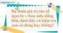 Bài 117 trang 85 SBT toán 6 tập 1