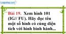 Bài 19 trang 153 Vở bài tập toán 8 tập 1