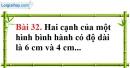 Bài 32 trang 162 Vở bài tập toán 8 tập 1