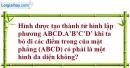 Bài 1.28 trang 20 SBT hình học 12