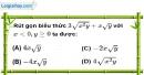 Bài 6.1 phần bài tập bổ sung trang 16 SBT toán 9 tập 1