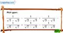 Bài 74 trang 17 SBT toán 9 tập 1