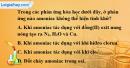 Bài 8.3, 8.4 trang 11 SBT hóa học 11