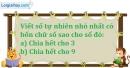 Bài 136 trang 23 SBT toán 6 tập 1