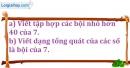 Bài 141 trang 23 SBT toán 6 tập 1