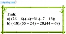 Bài 136 trang 88 SBT toán 6 tập 1