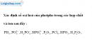 Bài 10.5 trang 17 SBT hóa học 11