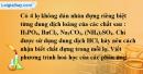 Bài 13.7  trang 21 SBT hóa học 11