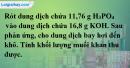 Bài 13.9  trang 21 SBT hóa học 11