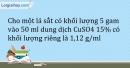 Bài 22.7* Trang 28 SBT Hóa học 9