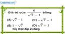 Bài 7.2 phần bài tập bổ sung trang 18 SBT toán 9 tập 1
