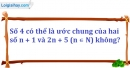 Bài 16.4 phần bài tập bổ sung trang 28 SBT toán 6 tập 1