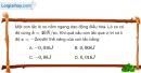 Bài I.4, I.5, I.6 trang 16  SBT Vật Lí 12