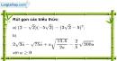 Bài 80 trang 18 SBT toán 9 tập 1