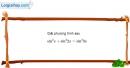 Bài 1.46 trang 40 SBT đại số và giải tích 11