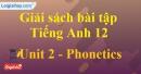 Pronunciation - trang 12 Unit 2 SBT Tiếng anh 12 mới