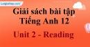 Reading - trang 15 Unit 2 SBT Tiếng anh 12 mới