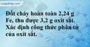 Bài 23.6* trang 31 SBT hóa học 8