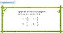 Bài 1.55 trang 41 SBT đại số và giải tích 11