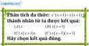 Bài 6.1 phần bài tập bố sung trang 9 SBT toán 8 tập 1