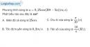 Bài 7.10, 7.11, 7.12 trang 20 SBT Vật Lí 12