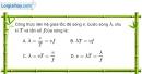 Bài 7.4, 7.5 trang 18 SBT Vật Lí 12