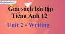 Writing - trang 17 Unit 2 SBT Tiếng anh 12 mới