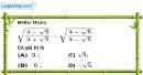 Bài 97 trang 21 SBT toán 9 tập 1
