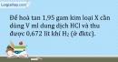 Bài 22.14 Trang 29 SBT Hóa học 9